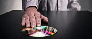 handing over data CD