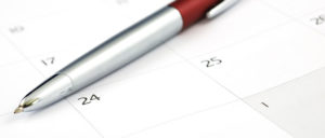 red pen on calendar