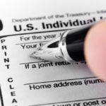 Filling in form 1040