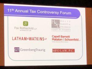 11th Annual Tax Controversy Forum