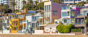 Homes on tropical beach